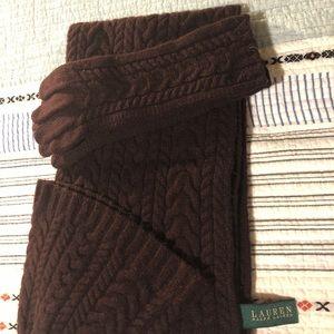 Ralph Lauren hat, glove and scarf set